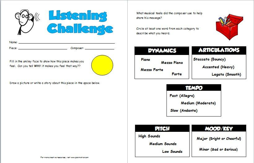 1000+ images about Listening Sheets on Pinterest | Worksheets ...