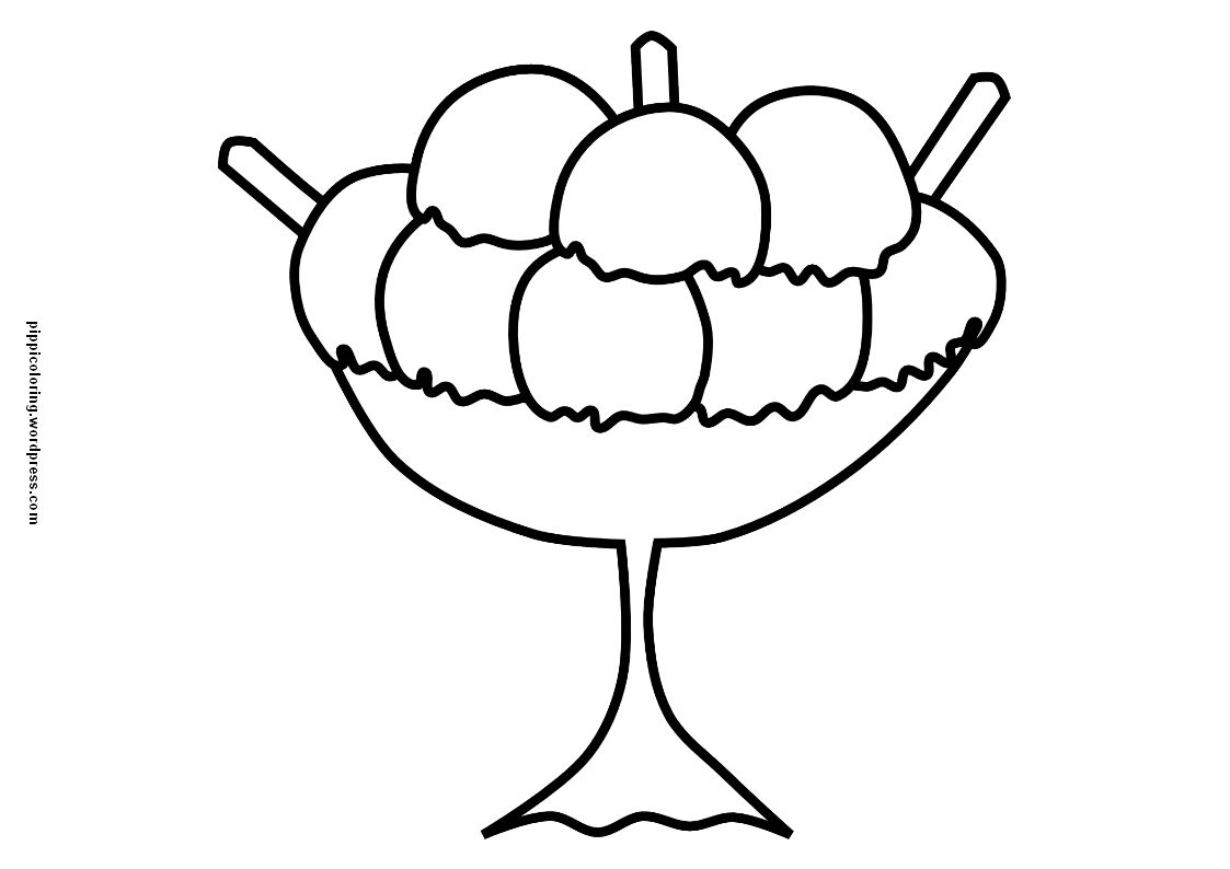 Ice Cream Coloring Pages For Kids Coloring Page Ice Cream | Happy ...