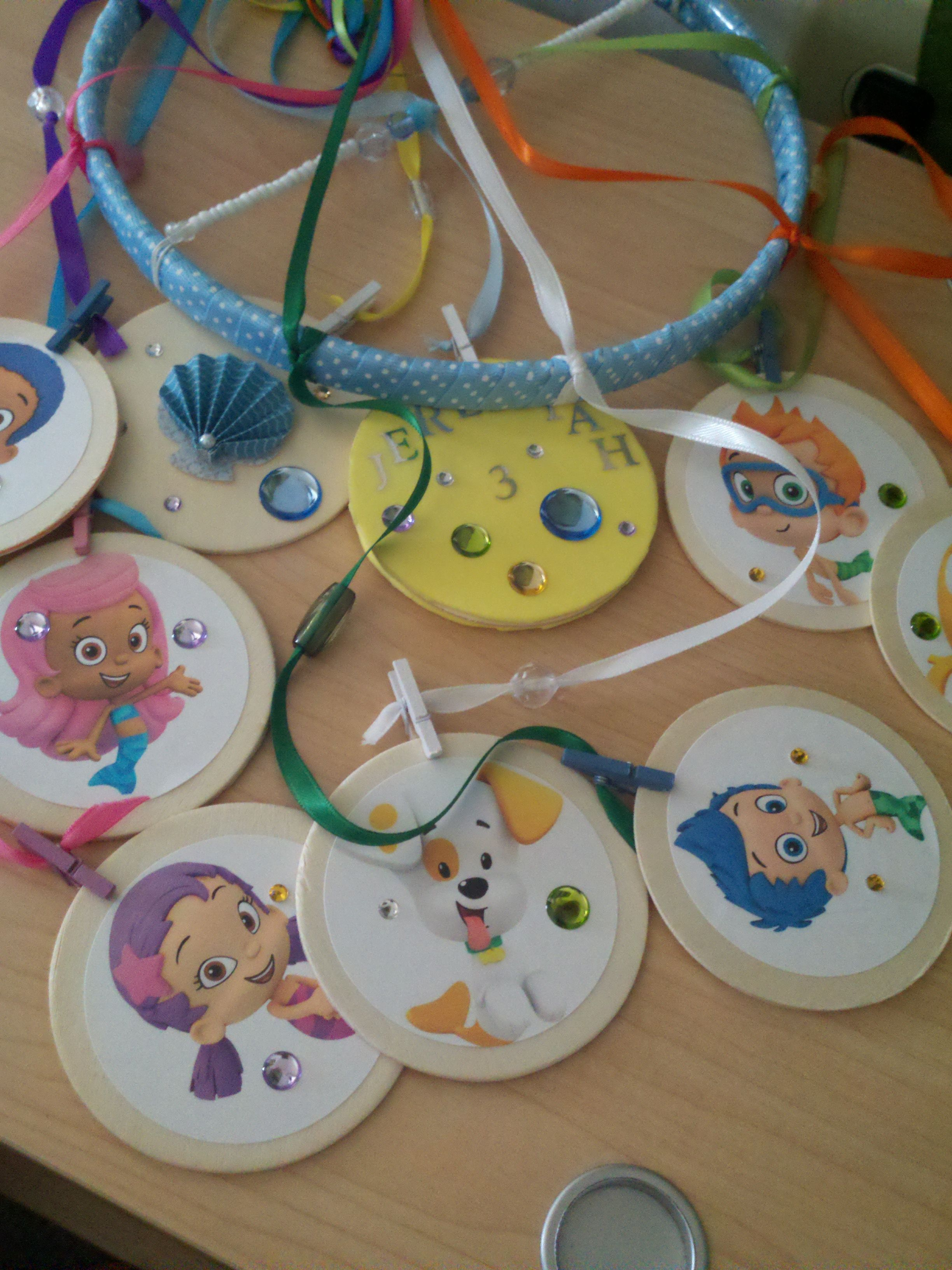 Bubble Guppies Mobile I made for my son when he turned 3! | Bubble ...