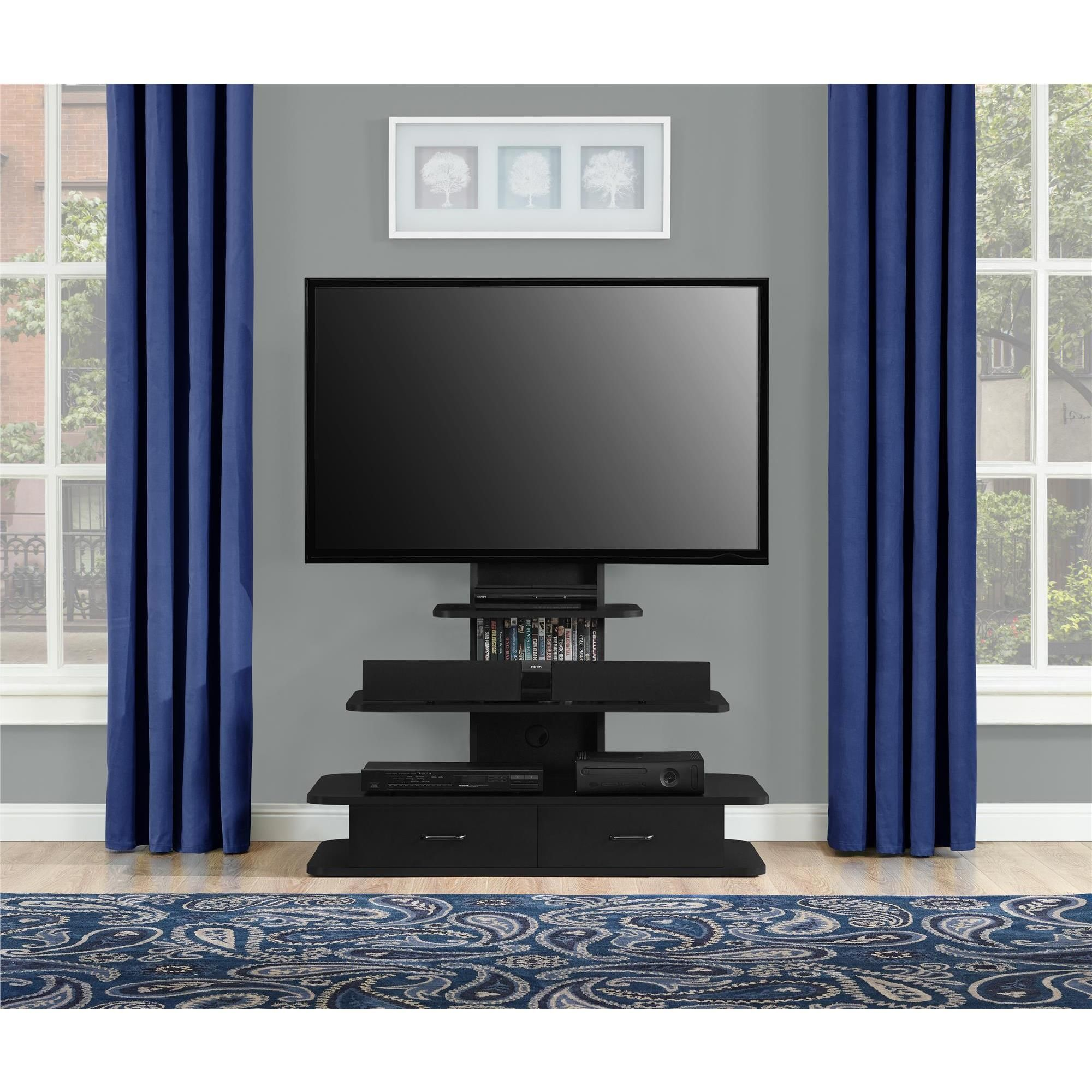 Altra Galaxy 70 Inch Tv Stand With Mount And Drawers Features A