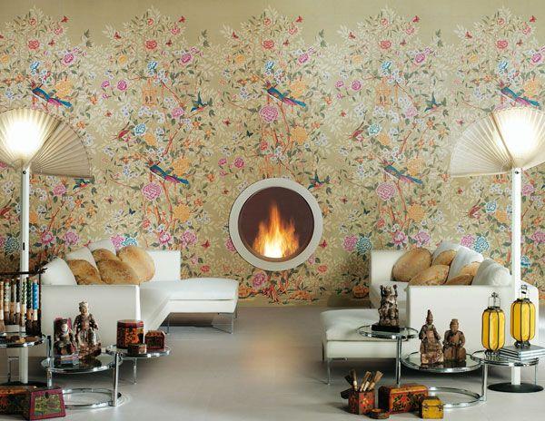 Florilege Ceramic Tiles By Novoceram Livingroom Contemporary Tile Home Decor Home