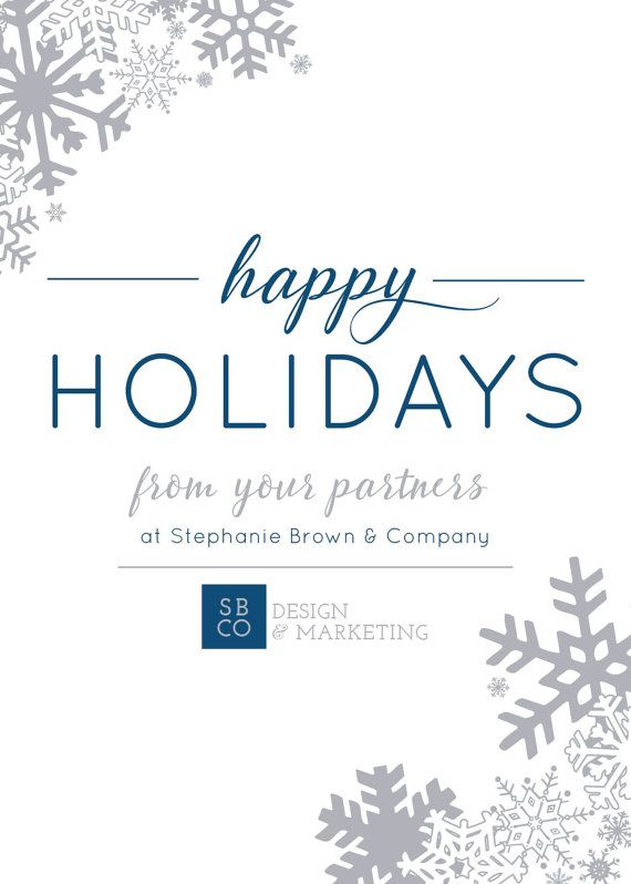happy holidays card corporate winter by ohmydesignsbysteph more - Happy Holidays Card