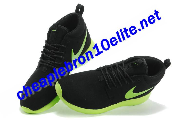 innovative design dd6ce 2caaa Coal Black Electronic Green Nike Roshe Run Suede Mid Mens 511881 031