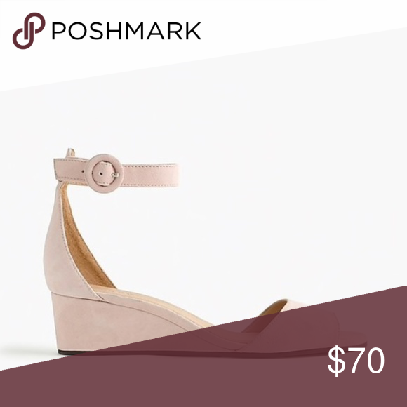 181efbd84eb8 J. Crew Laila Wedges in Suede - Rose Blush Slightly stacked and so easy to