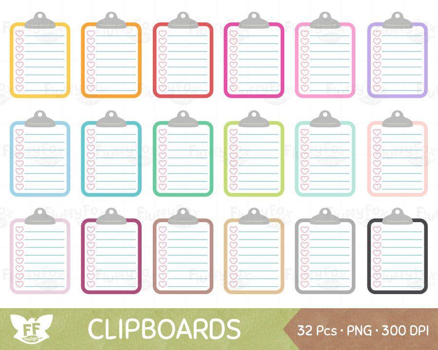 Clipboard Clipart, To Do List Clip Art, Paper Clip Board ...