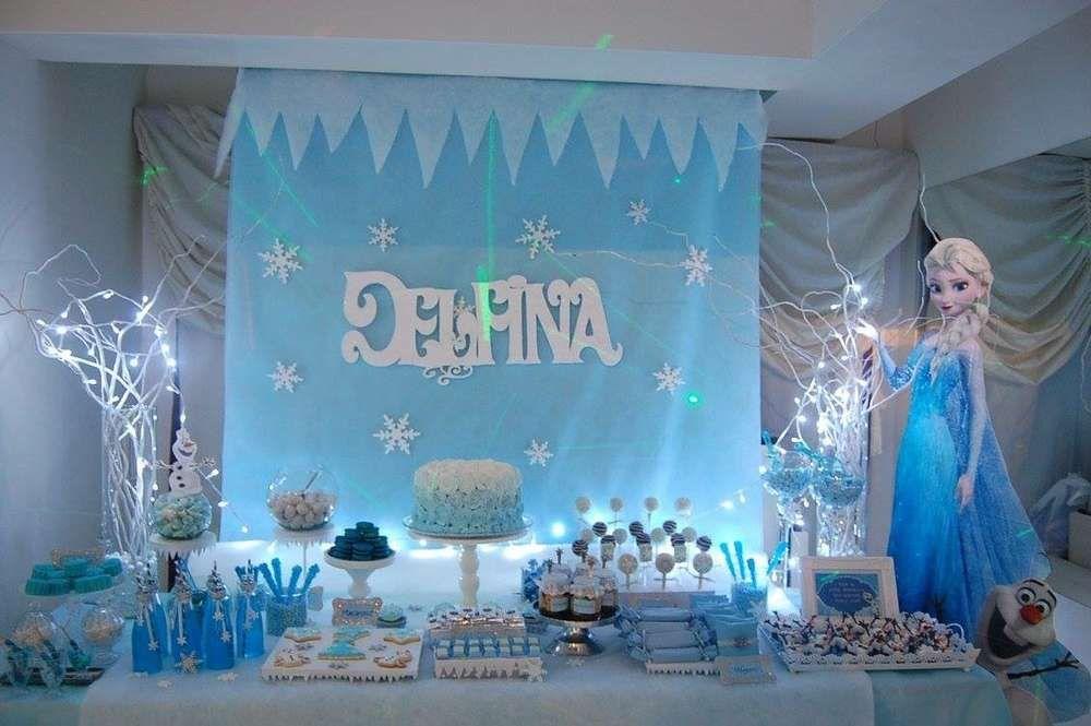 Frozen Disney Birthday Party Ideas Photo 1 Of 15 Frozen Themed Birthday Party Disney Birthday Party Frozen Birthday Theme