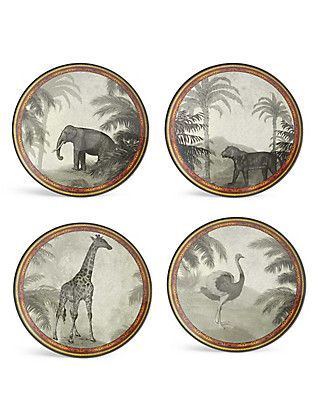 Set Of 4 Safari Melamine Side Plates M Amp S Side Plates