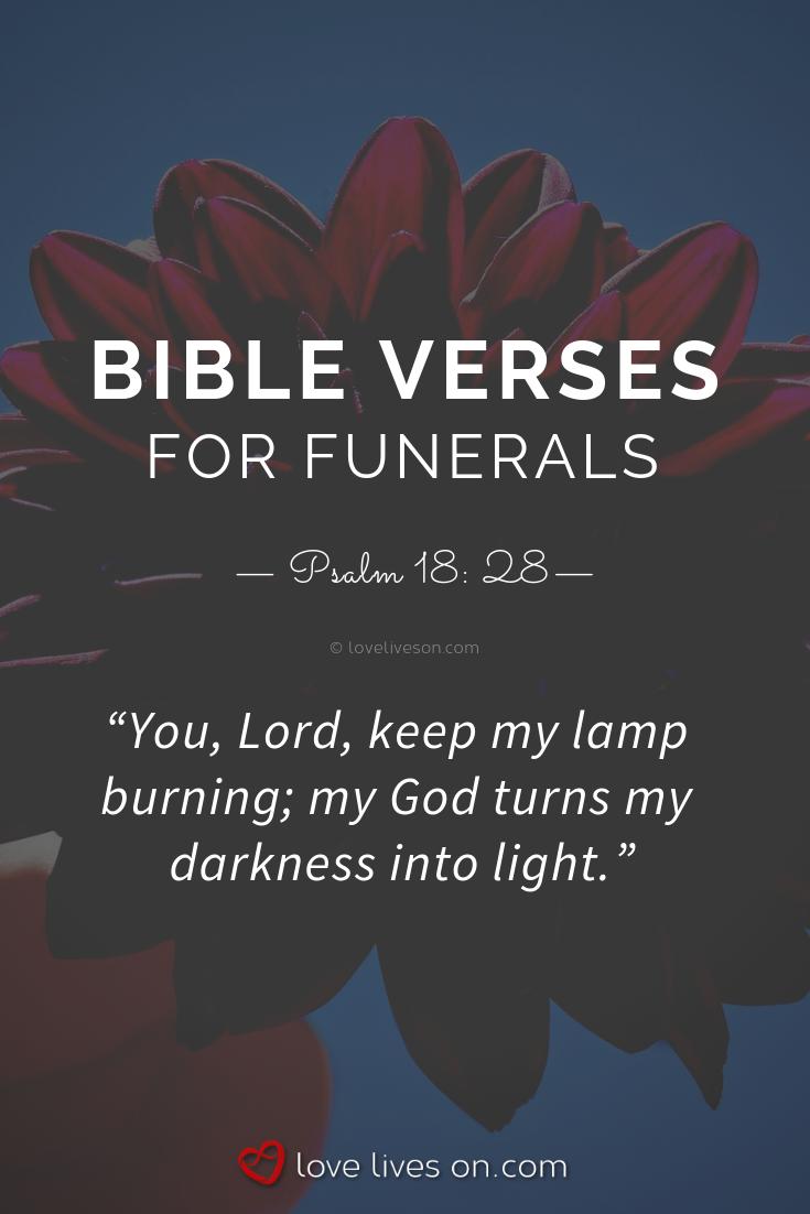 100+ Bible Verses For Funerals | Death bible verses | Bible
