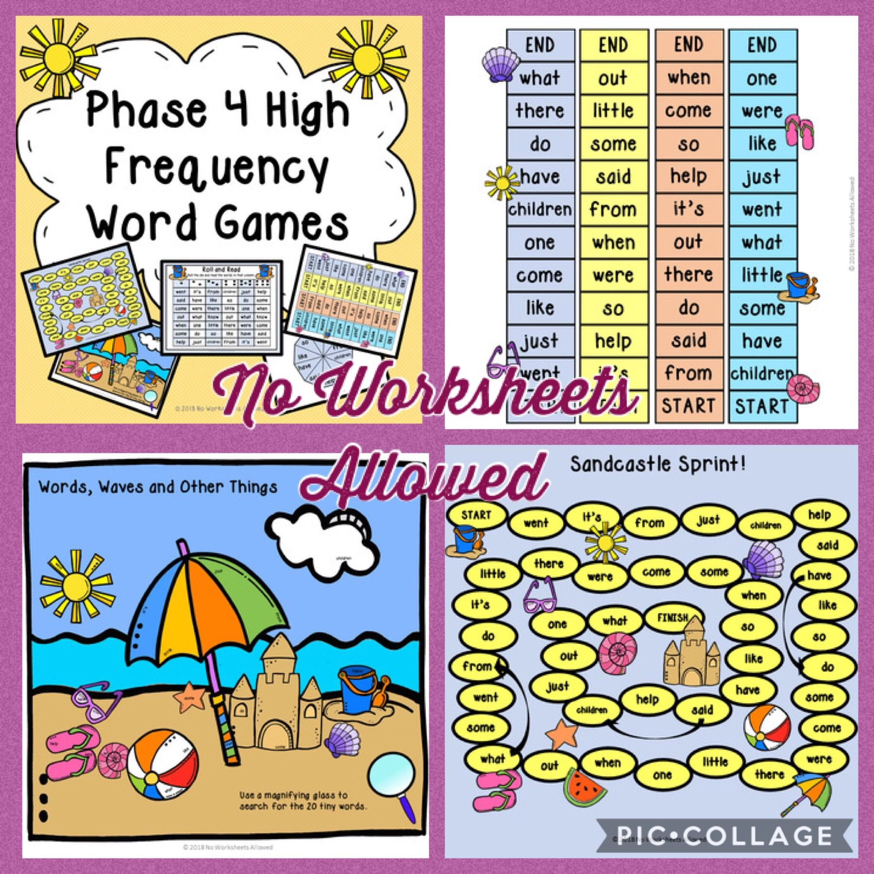 Phase 4 Phonics High Frequency Word Games And Activities