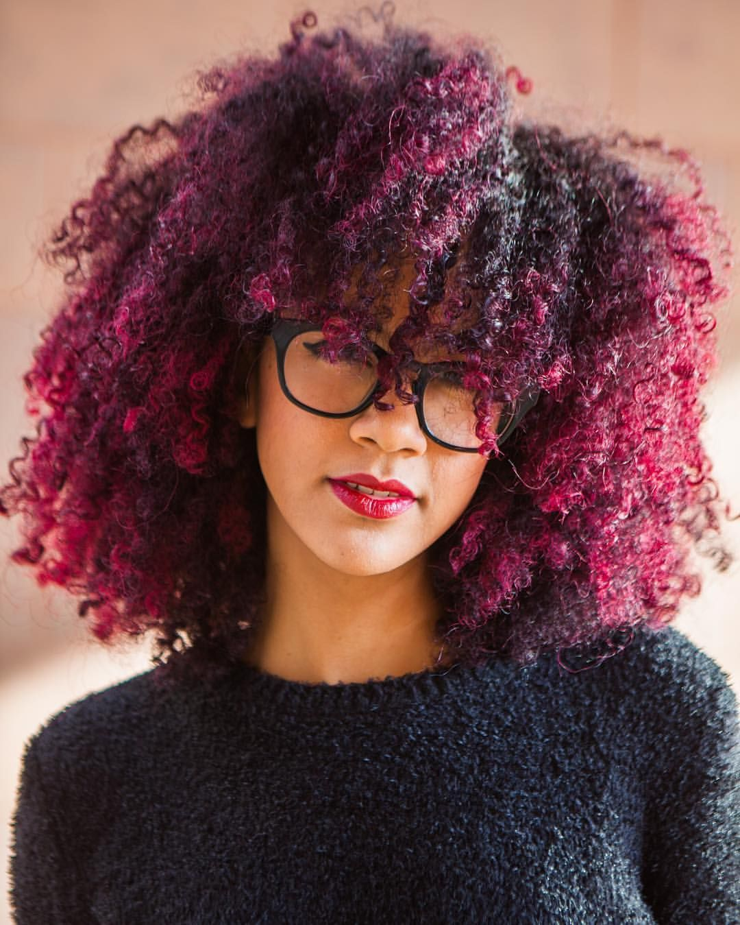 alannanicolex Dyed natural hair, Colored curly hair
