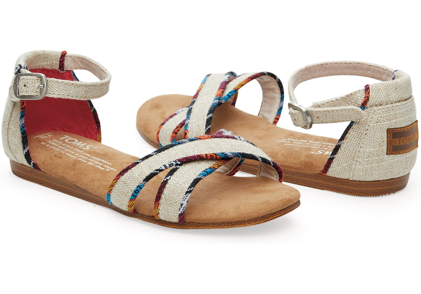 Natural Burlap Youth Correa Sandals | TOMS