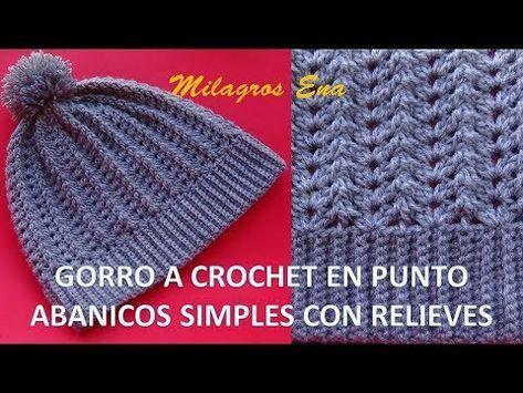 Como tejer o como hacer un Gorro Unisex a crochet o ganchillo en ... 206c31f0542