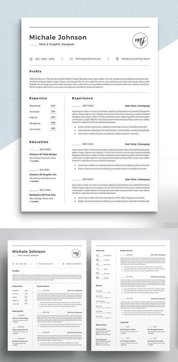 2018's Best Selling Resume Templates Resume design