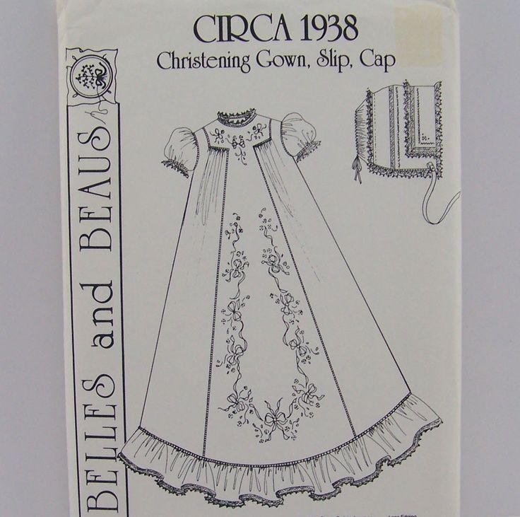 Vintage pattern for infant Christening Gown Slip ... | Vintage ...