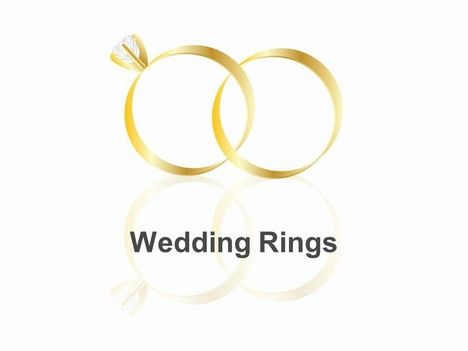 This Charming Template Shows Two Interlocking Wedding Rings Rings