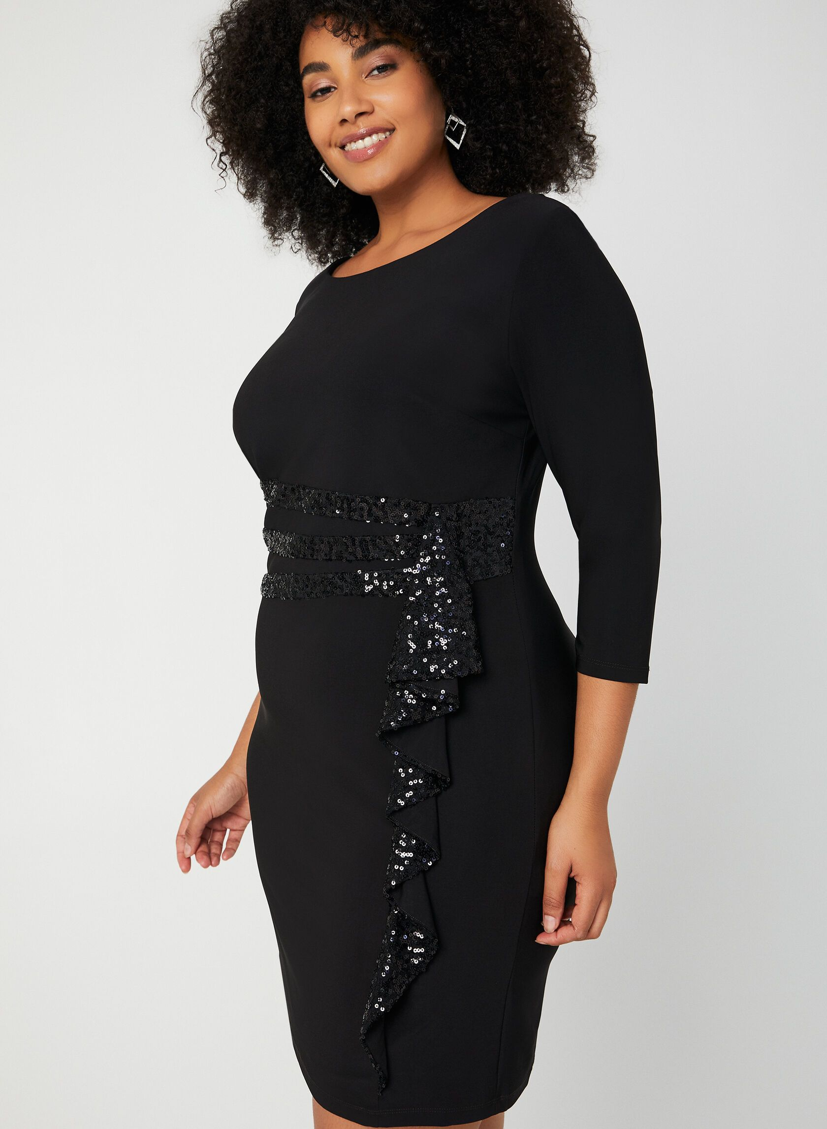 sparkly cocktail dress long sleeve