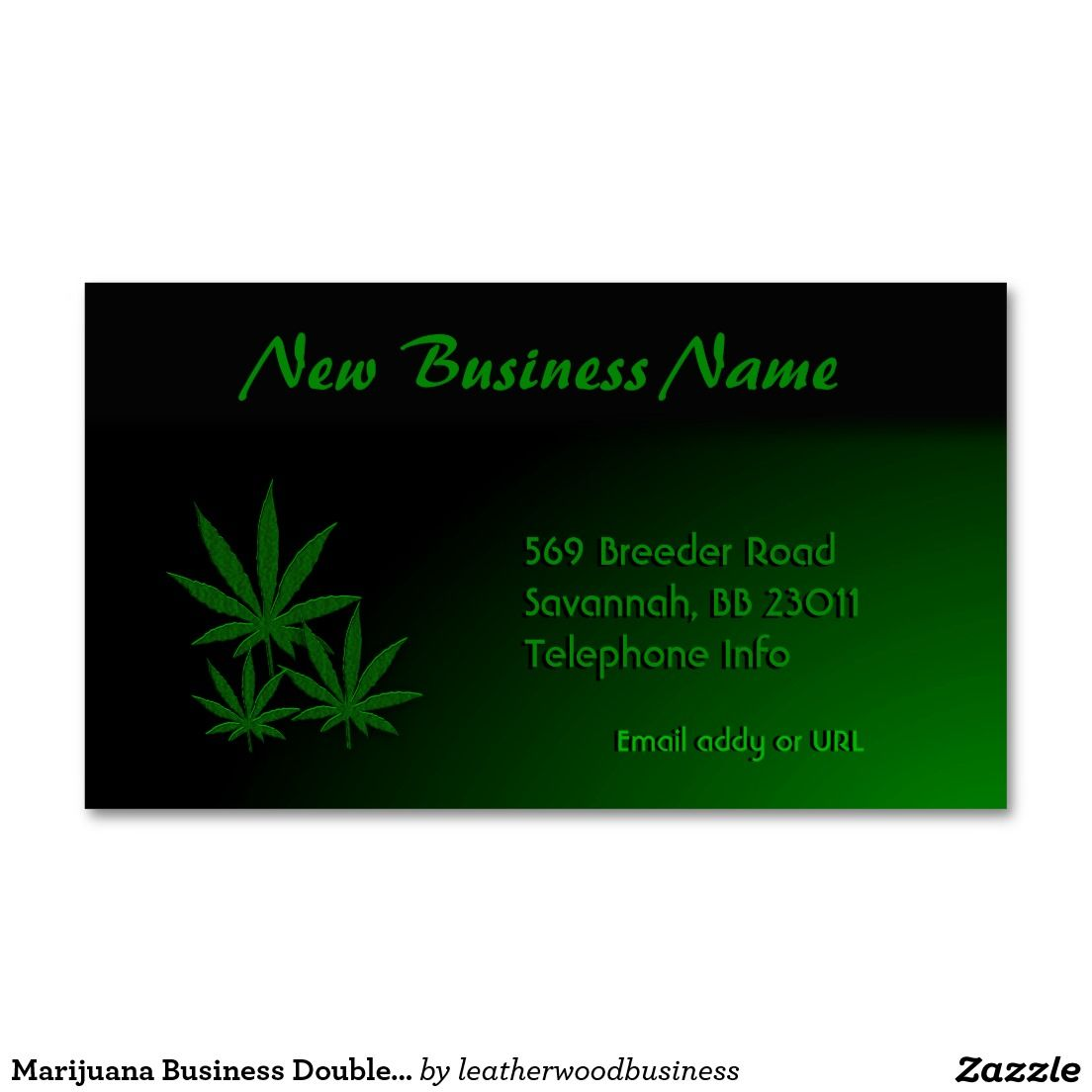 Marijuana Business Double Sided Business Card