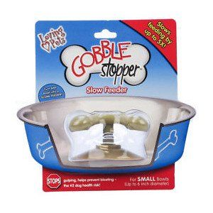"Gobble Stopper Slow Feeder Size: Small (6"" H x 4"" W x 4"" D) - http://www.thepuppy.org/gobble-stopper-slow-feeder-size-small-6-h-x-4-w-x-4-d/"