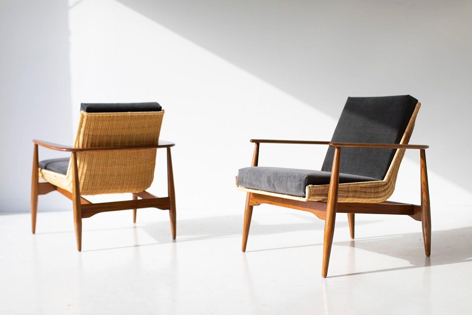 modern wicker lounge chair