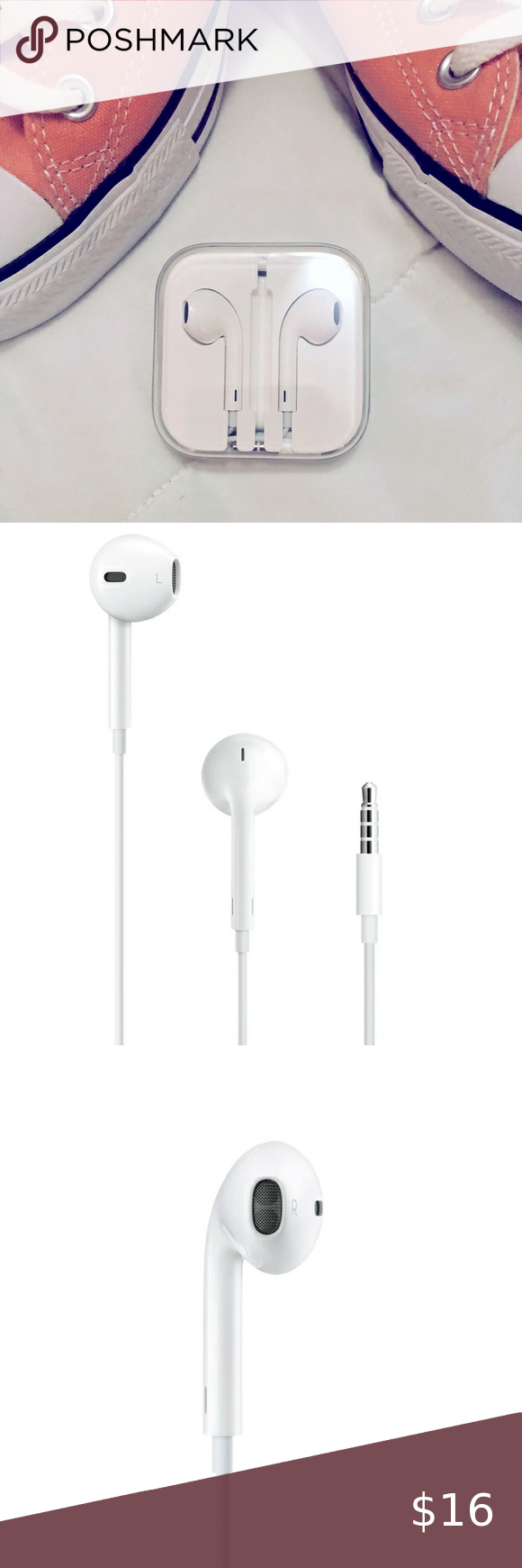 Apple Iphone Headphones Brand New 2 Pack Of Earbuds For Iphone 6s 6 5 5s 4s Plus More Phones Like Android Wired 3 5 Iphone Headphones Headphones Apple Iphone