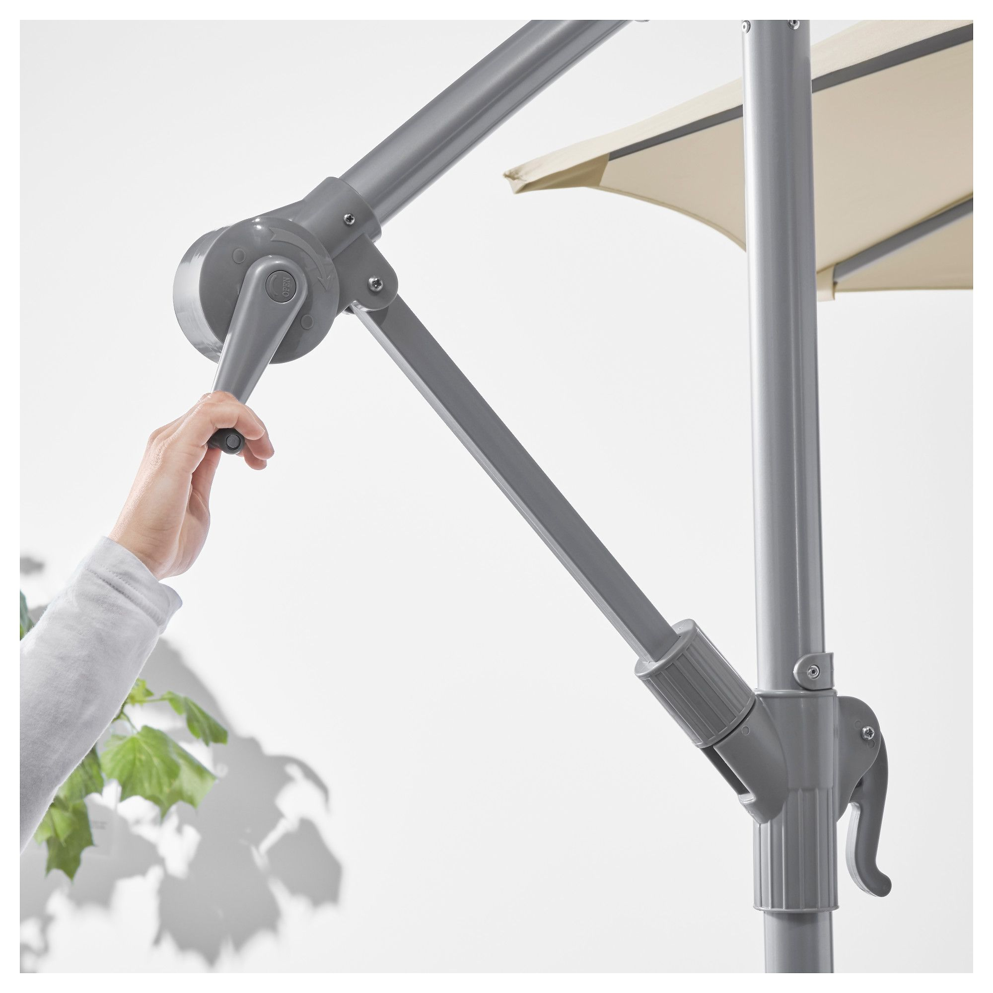 Ampelschirm Ikea Offset Patio Umbrella With Base KarlsÖ SvartÖ Beige Dark Gray