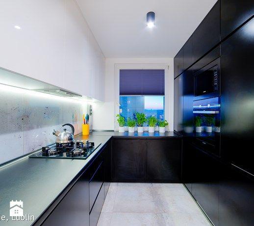 Metamorfoza Salon Kuchnia 30m2 Lublin Srednia Duza Otwarta Zamknieta Waska Kuchnia W Ksztalcie Litery U Dwu Chrome Kitchen Cool Kitchens Beautiful Kitchens