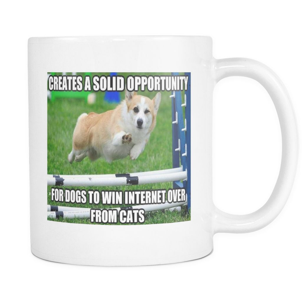 Dog meme opportunity ounce double sided coffee mug products