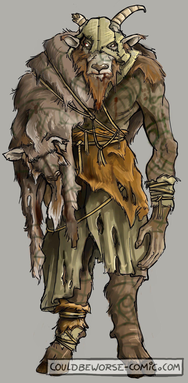 Beastmen, goat feral savage