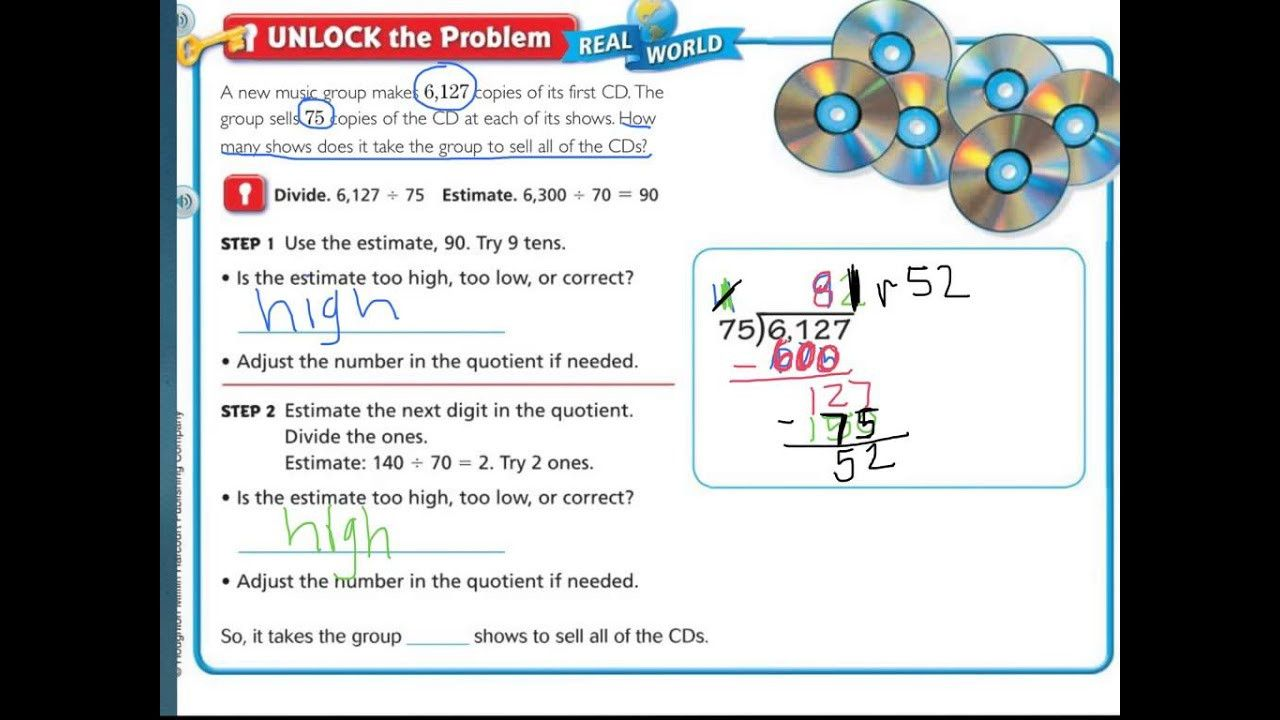 small resolution of 5 5th Grade Go Math Worksheets with Answer Key in 2020   Math worksheets