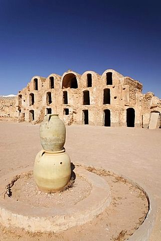Ksar Berber village with ghofas, storerooms, open-air museum in Medenine…