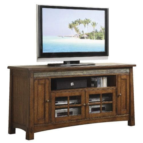 "50 Inch Tv Stands American Freight Furniture: Craftsman Home 62"" Media Console"