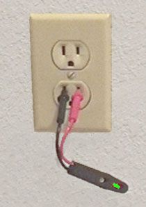 testing an outlet for current with a circuit tester house rh pinterest com Simple House Wiring House Wiring Guide