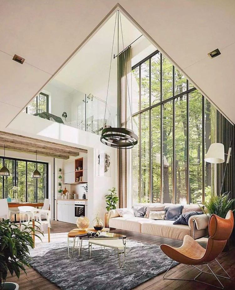 From The Windows To Fixtures To Furniture And Accent Colors This Room Is Perfect Minimalism Interior House Styles Home Interior Design