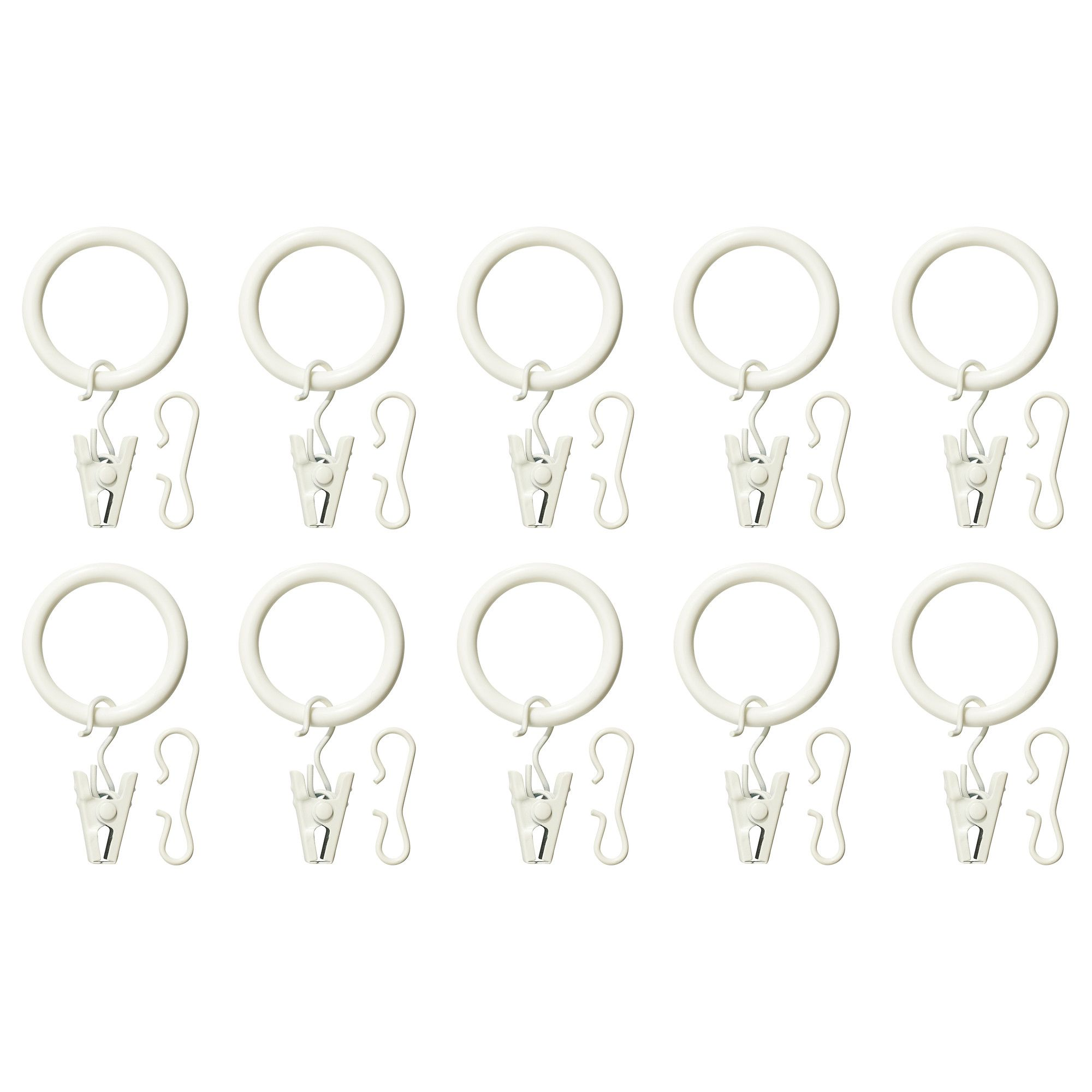 Syrlig curtain ring with clip and hook ikea you can hang your curtains - Syrlig Curtain Ring With Clip And Hook White