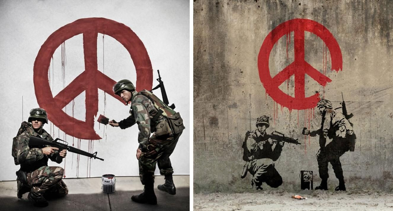 an overview of banksy controversial pieces of art He produces pieces of work which pop up in public places, such as on the walls of buildings  why is he controversial  there is a debate about why banksy's work can be protected as 'art.