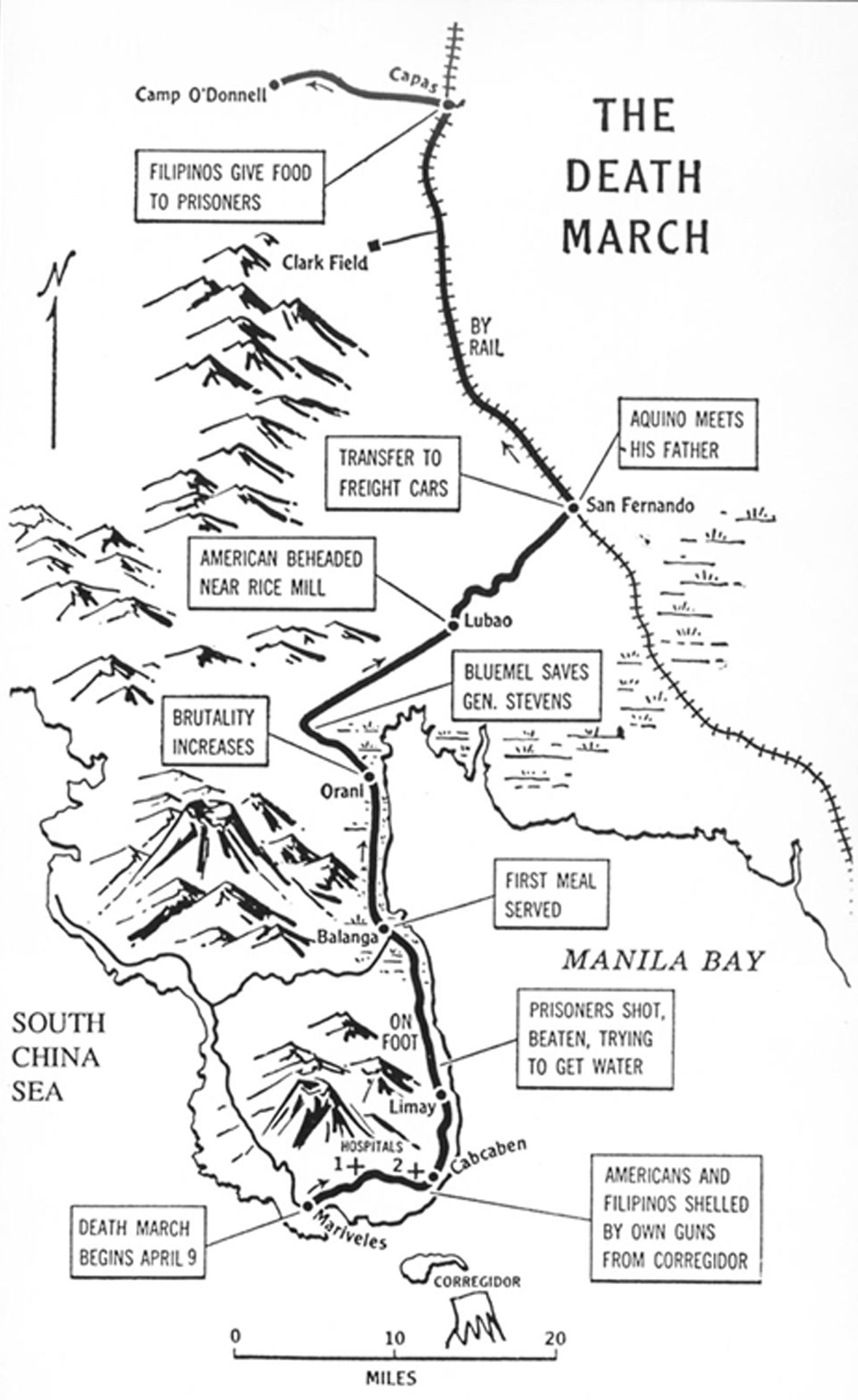 Map Of Bataan March