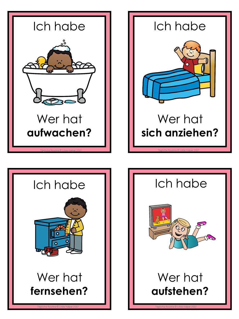 German Daily Routine Ich Habe Wer Hat Game Language Learning App Essay In