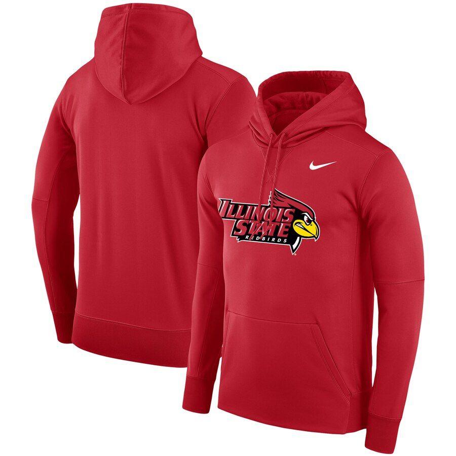 Men S Nike Red Illinois State Redbirds Logo Therma Performance Hoodie Performance Hoodie Hoodies Nike Men [ 900 x 900 Pixel ]