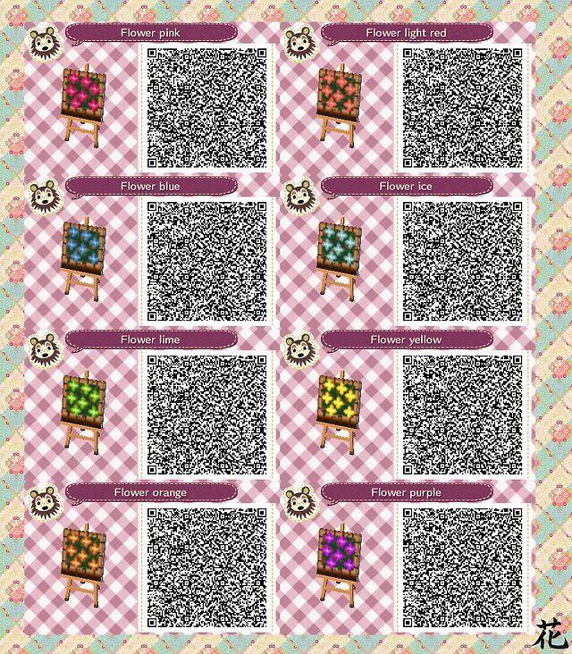 Acnl Flower Bed Qr Animal Crossing Qr Qr Codes Animal Crossing