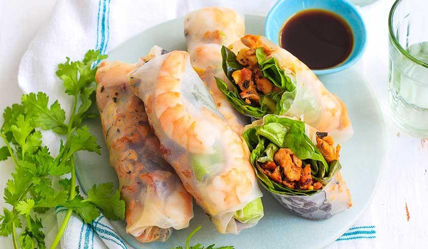 Recette Rouleaux de printemps au poulet et crevettes - recettes Les plats - Picard