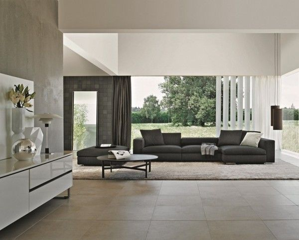 We Could Do This With Grey Floor Tiles Our Black Sofa
