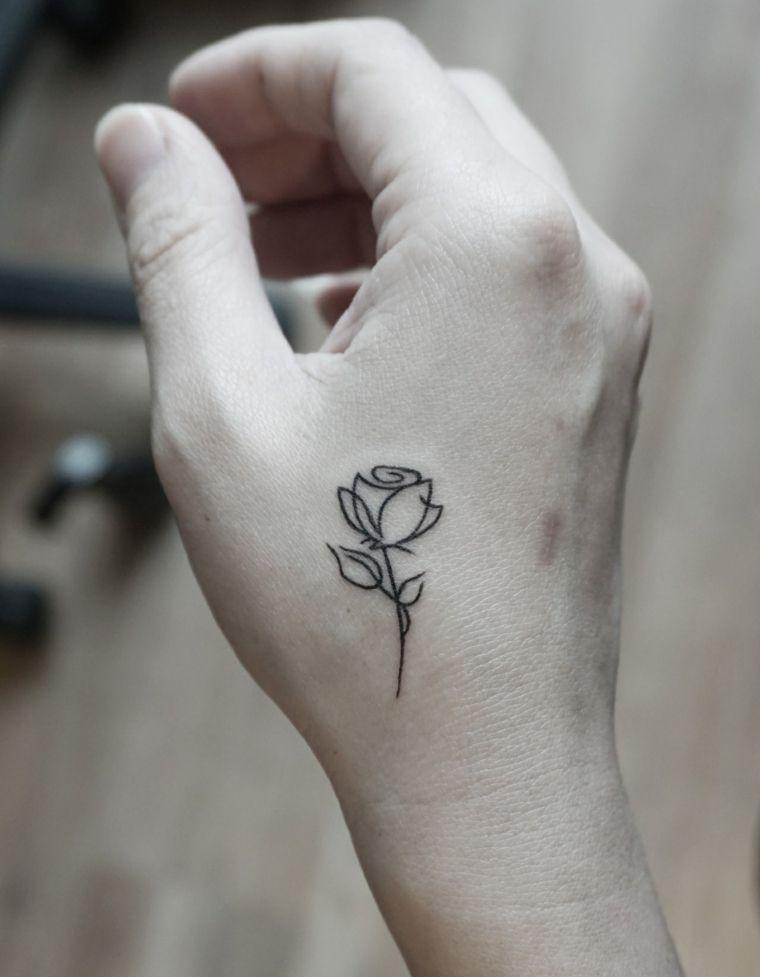 21 Imagenes de tatuajes de rosas en la mano