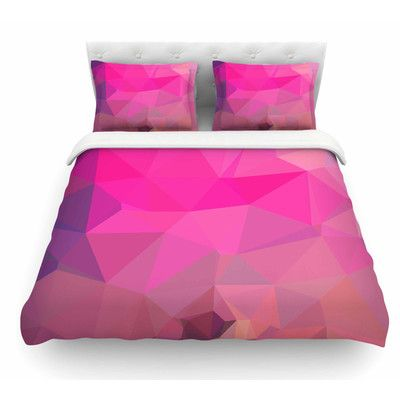 East Urban Home Poly Sunrise by Oriana Cordero Featherweight Duvet Cover Size: Queen