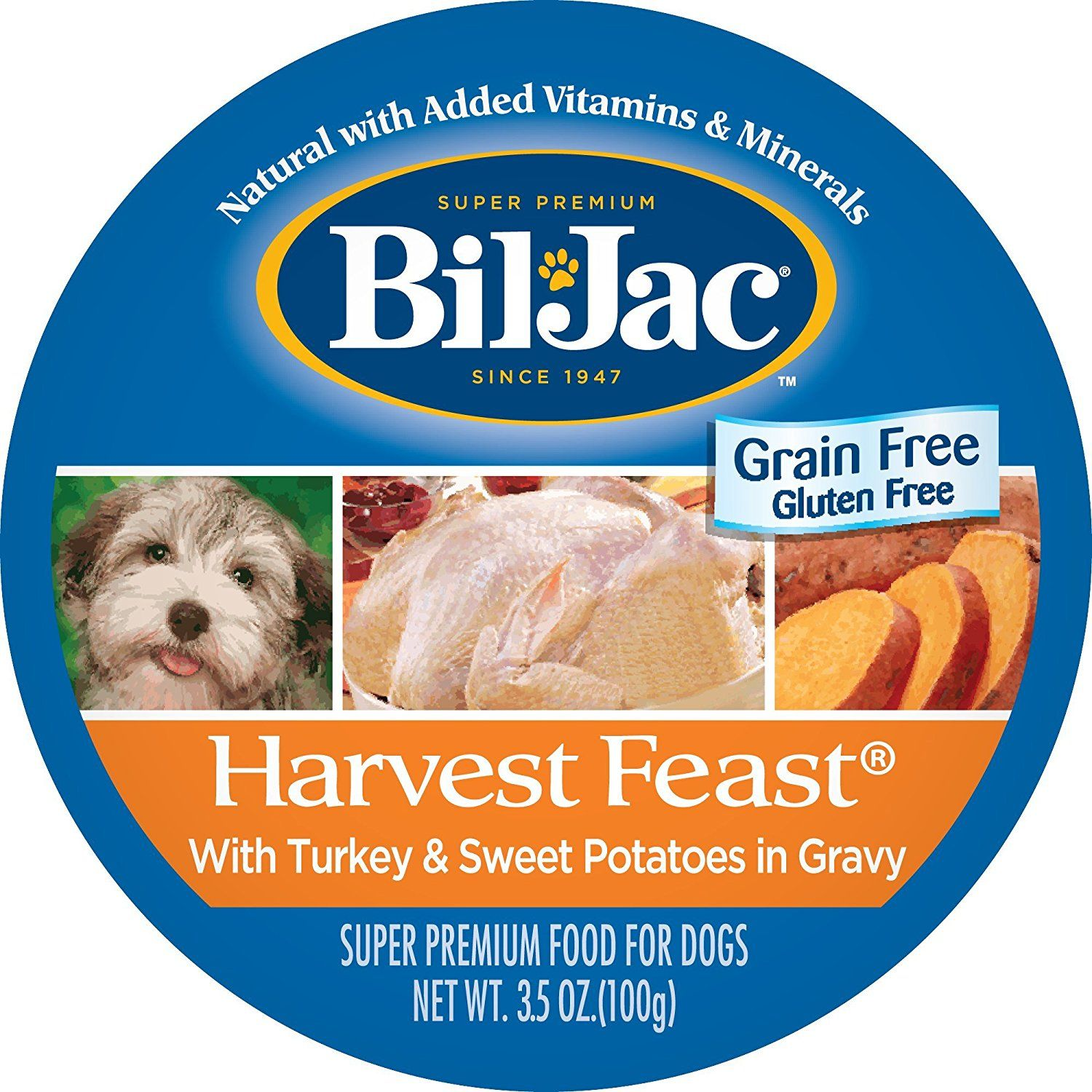 BilJac Harvest Feast Turkey and Sweet Potatoes Wet Adult