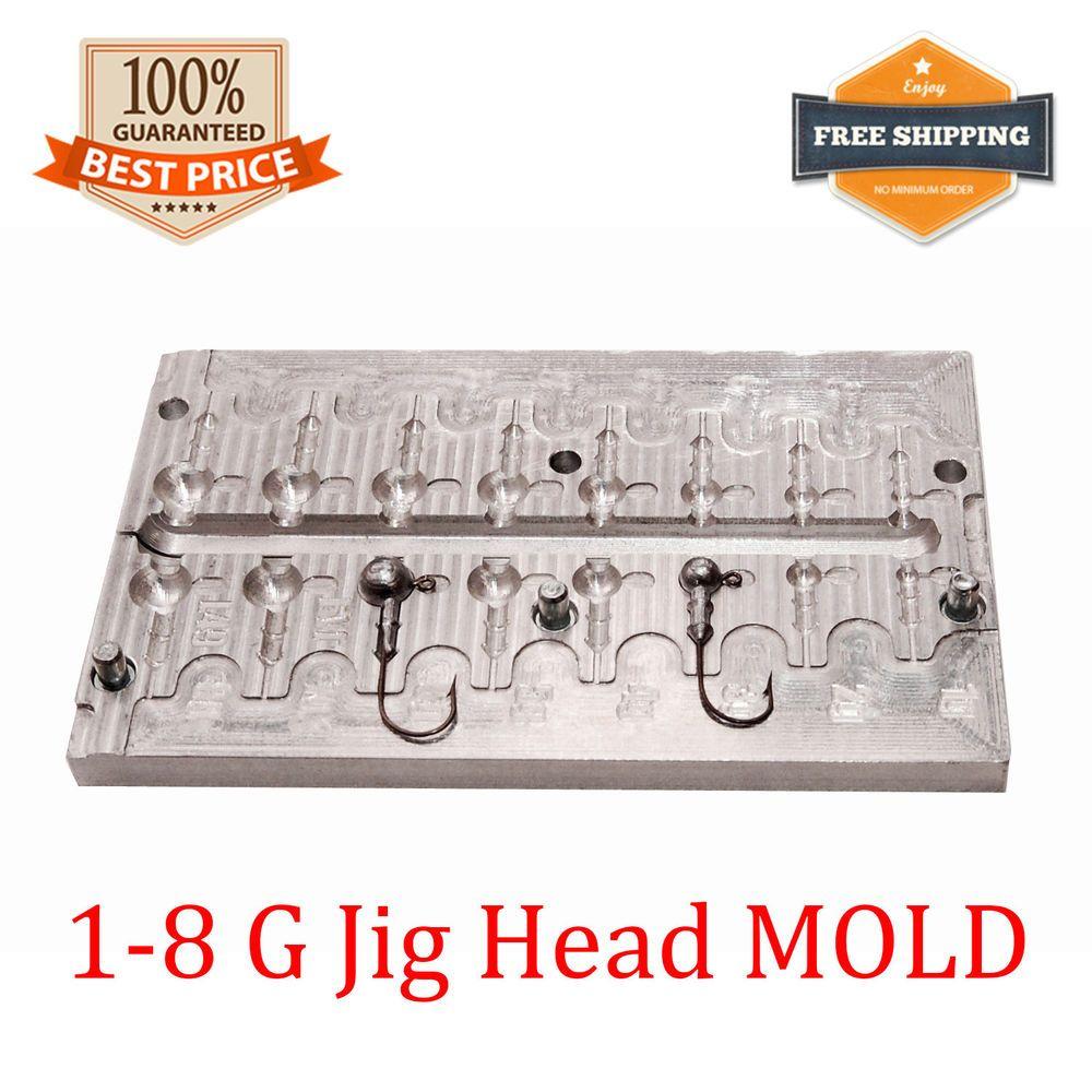 Details about Fishing JigHead Mold Lead Jig Head Sinker