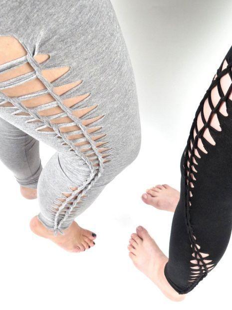 bfae498f865d No-Sew Braided Leggings. No-Sew Braided Leggings Diy Summer Clothes ...