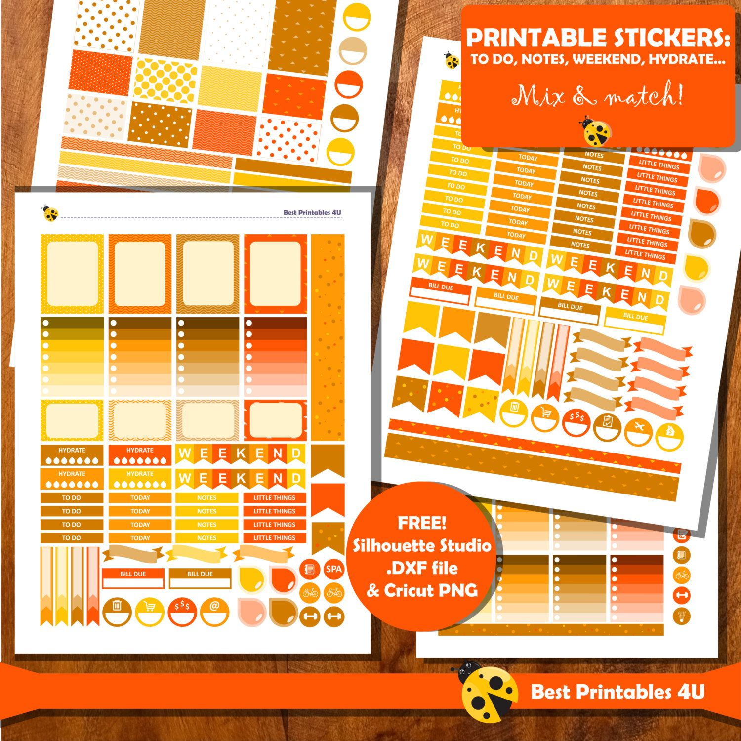 50 off sale thanksgiving printable planner stickers to use with