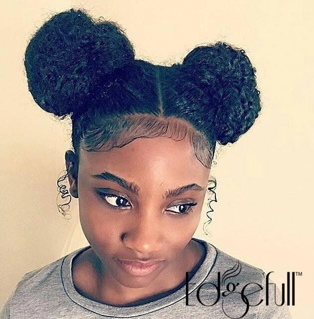 how to grow natural black hair edges