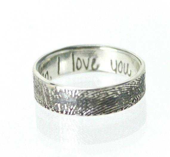 Wedding Ring Inscriptions Fingerprint Wedding Bands Wedding Ring Inscriptions Fingerprint Wedding