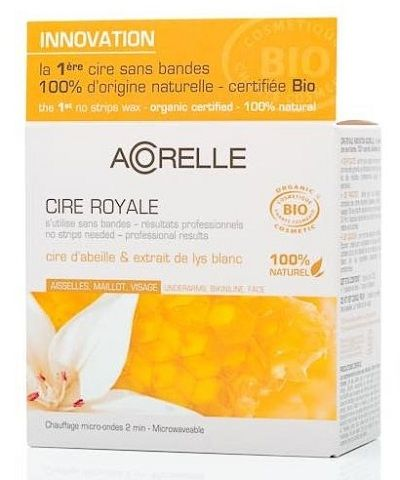 Royal Jelly The First Certified Organic No Strips Wax For The Bikini Line And Underarms From Acorelle One Natural Hair Removal Wax Hair Removal Bikini Line
